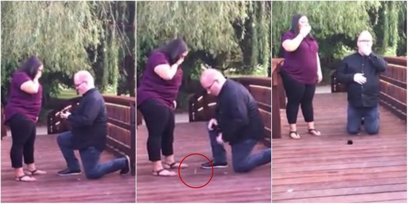 В самый торжественный момент жених утопил кольцо за 3000 долларов