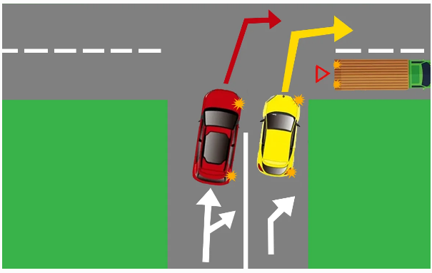 У кого преимущество при повороте направо? Разбираем задачку ПДД