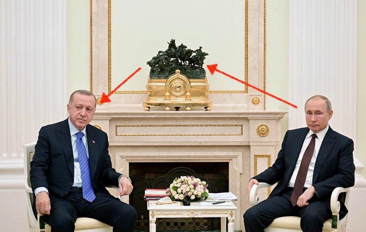 Символизм на встрече Эрдогана и Путина в Кремле