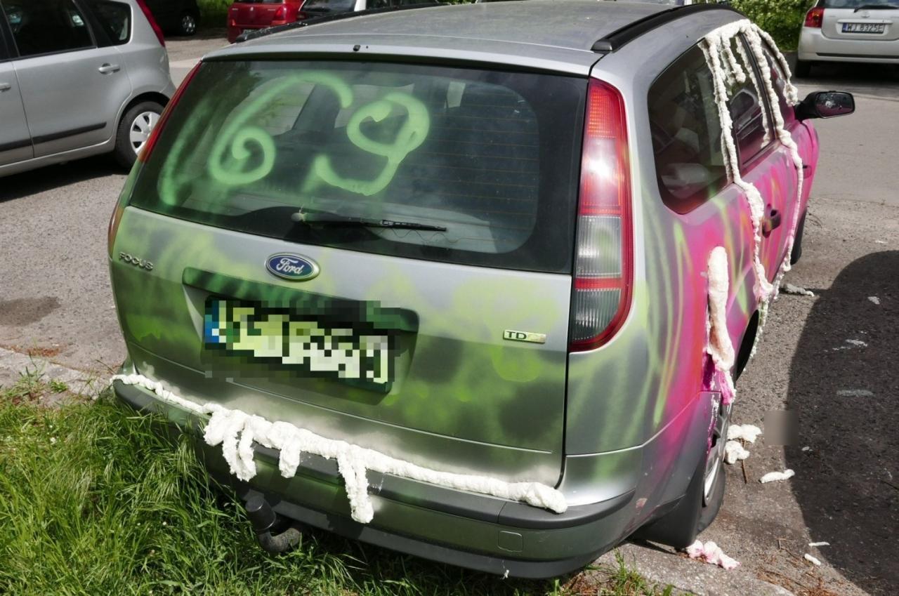 В результате семейных разборок пострадал автомобиль