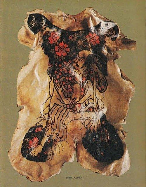 Захватывающая дичь: коллекция татуированной человеческой кожи Фукуси Масаити