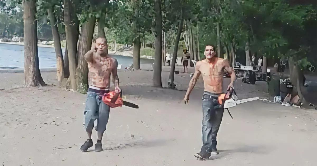 Два диких канадца с бензопилами напали на вечеринку антимасочников и распилили диджейское оборудование