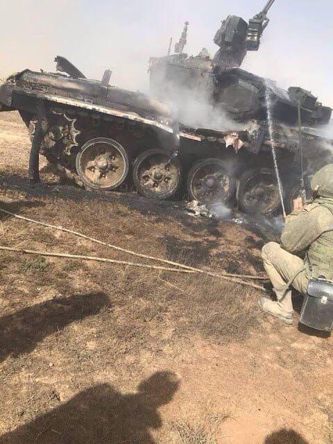Под Астраханью из ПТРК подбили свой Т-90