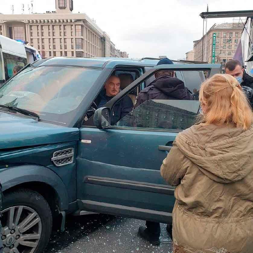 На Майдане в Киеве масштабное ДТП, есть жертвы