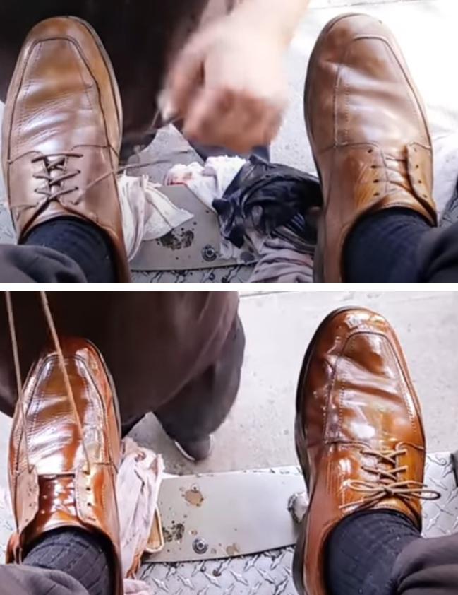 Чистка обуви как искусство