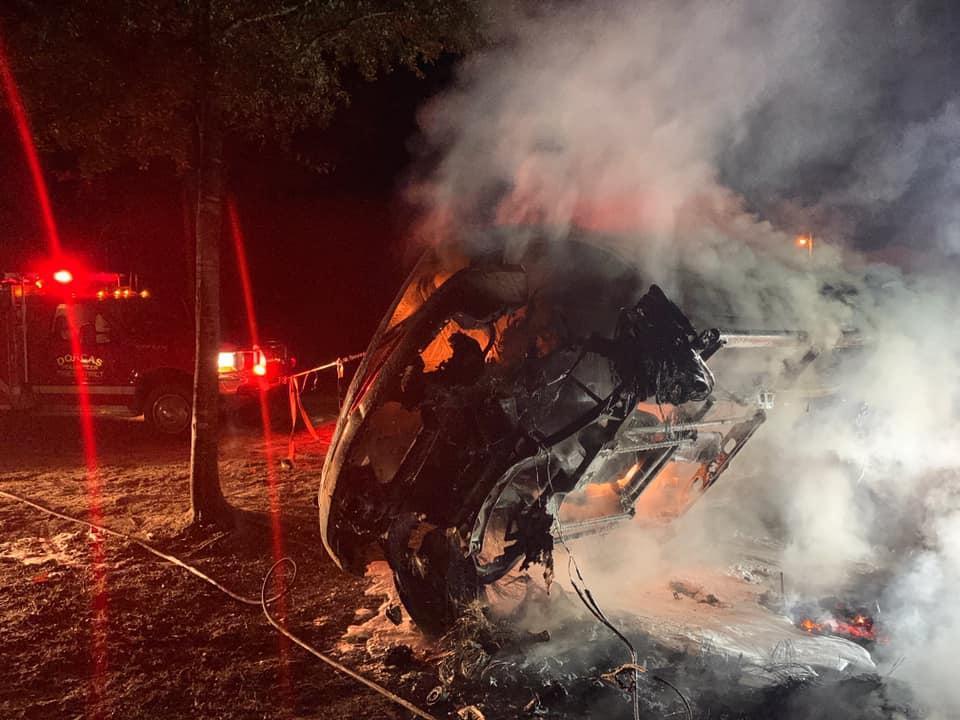 Мужчина из Флориды поджег свою машину, чтобы было весело