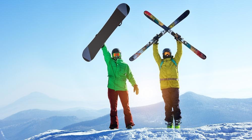 Преимущества лыж над сноубордом