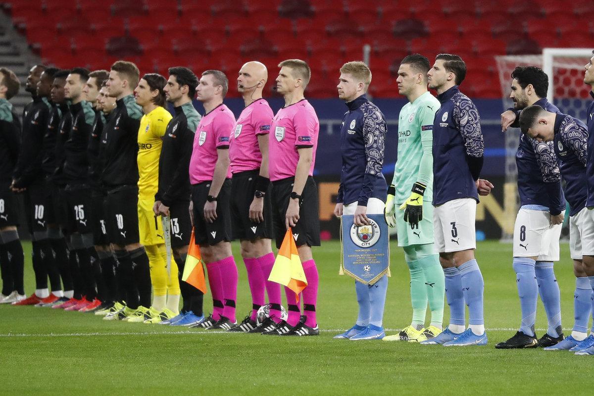 Бригада Карасева не встала на колено перед матчем «Манчестер Сити» – «Боруссия» М