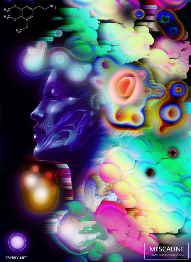 Художник перепробовал 20 наркотиков, чтобы показать, как они влияют на творчество
