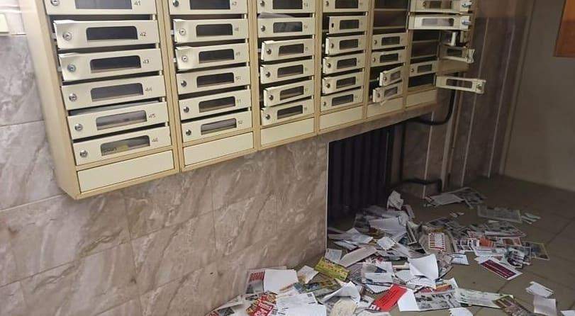 Дитя гор крошит почтовые ящики в Домодедово
