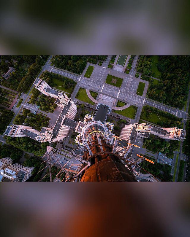 Руферы покорили звезду главного здания Москва