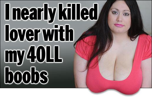 Девушка из Англии заявила, что чуть не убила своего парня грудью во