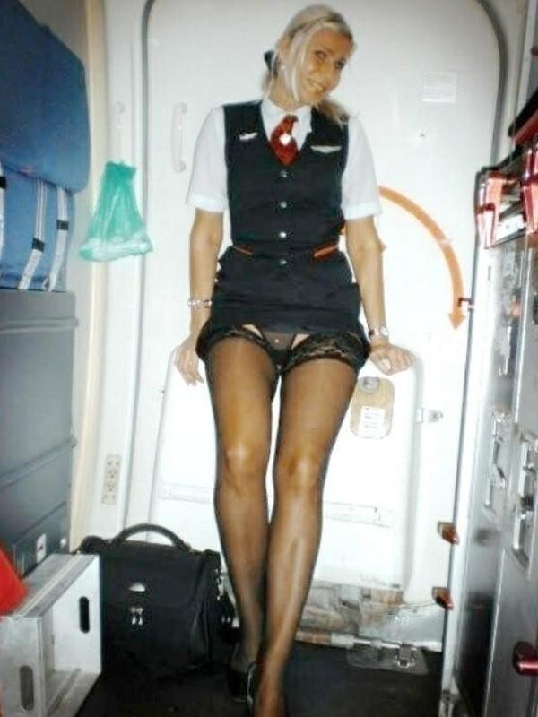 Стюардесса в юбке фото