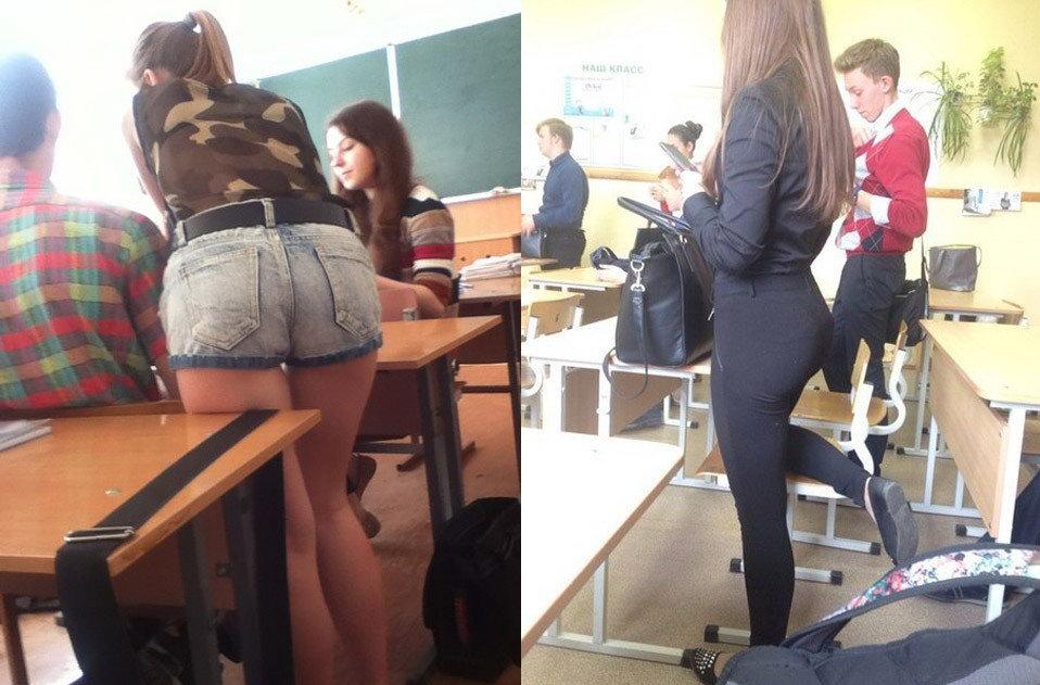 вагончики Приморском смотрят под юбки в школе теплого