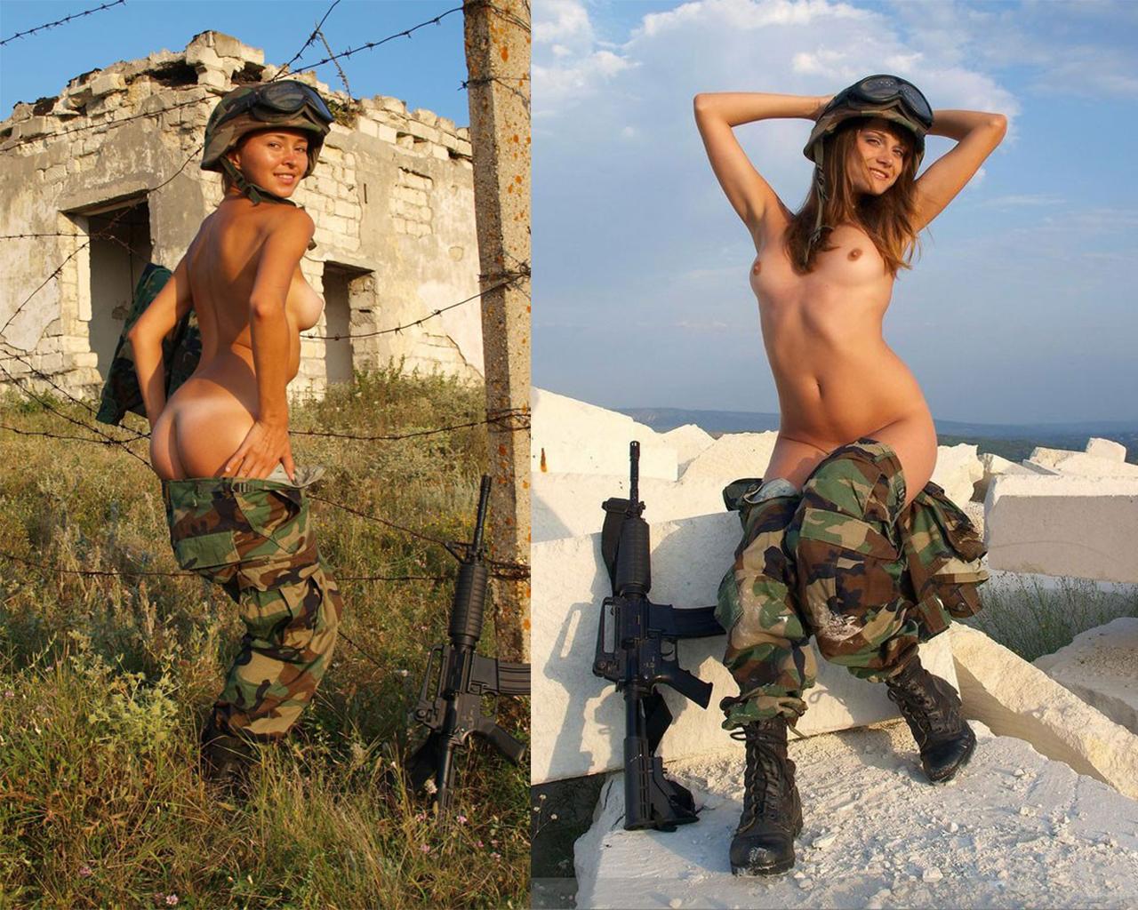 дамы в армии порно