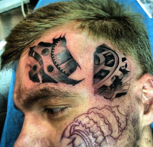 Men's bio-mechanical tattoos   3d татуировки, Татуировки ...   624x650