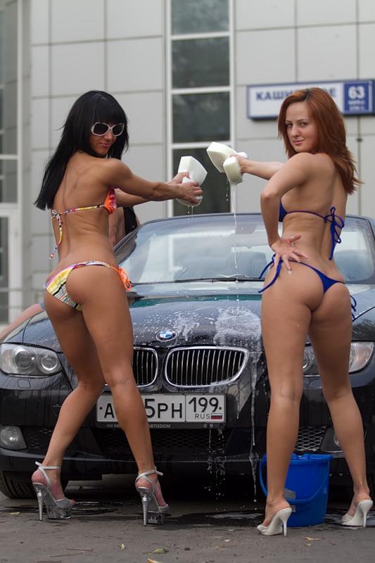 мойка с голыми девушками в москве