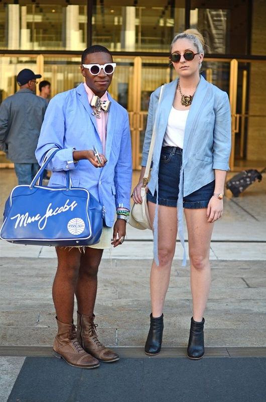 Модники и модницы с Нью-Йоркской недели моды