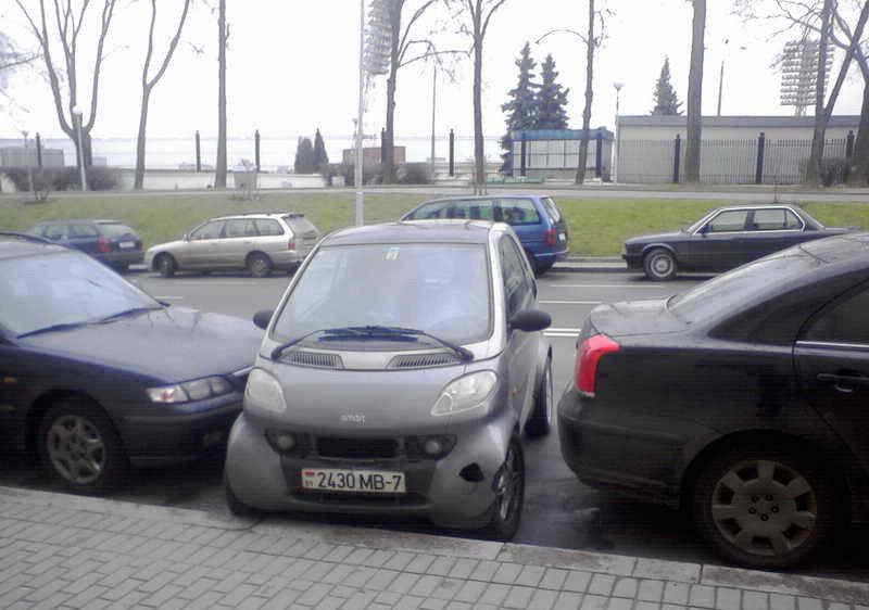 Догадались, кто парковался?! :)