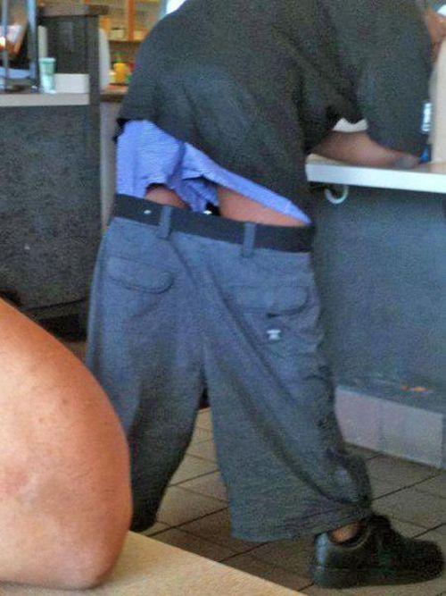 штаны ниже трусов фото